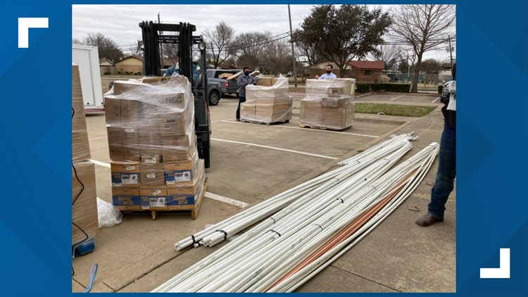 Plumbing supplies arrive in North Texas as residents still living without water