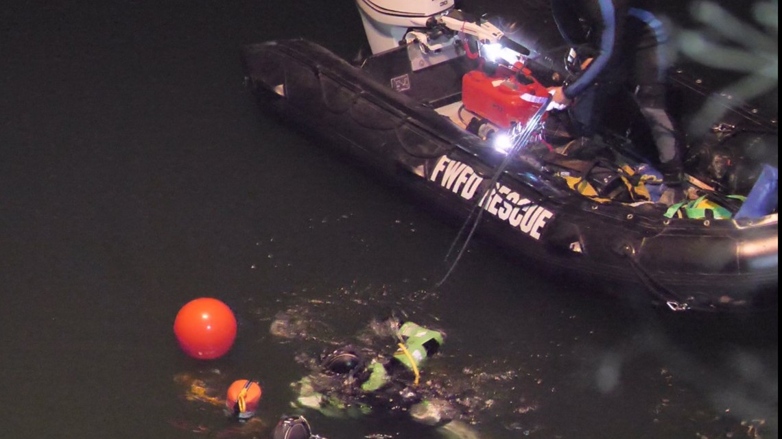Fort Worth Fire Department dive teams call off search for drowning victims for the night; search will resume in the morning