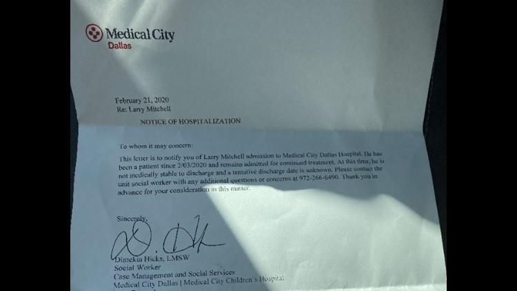 Hospital letter Mitchell