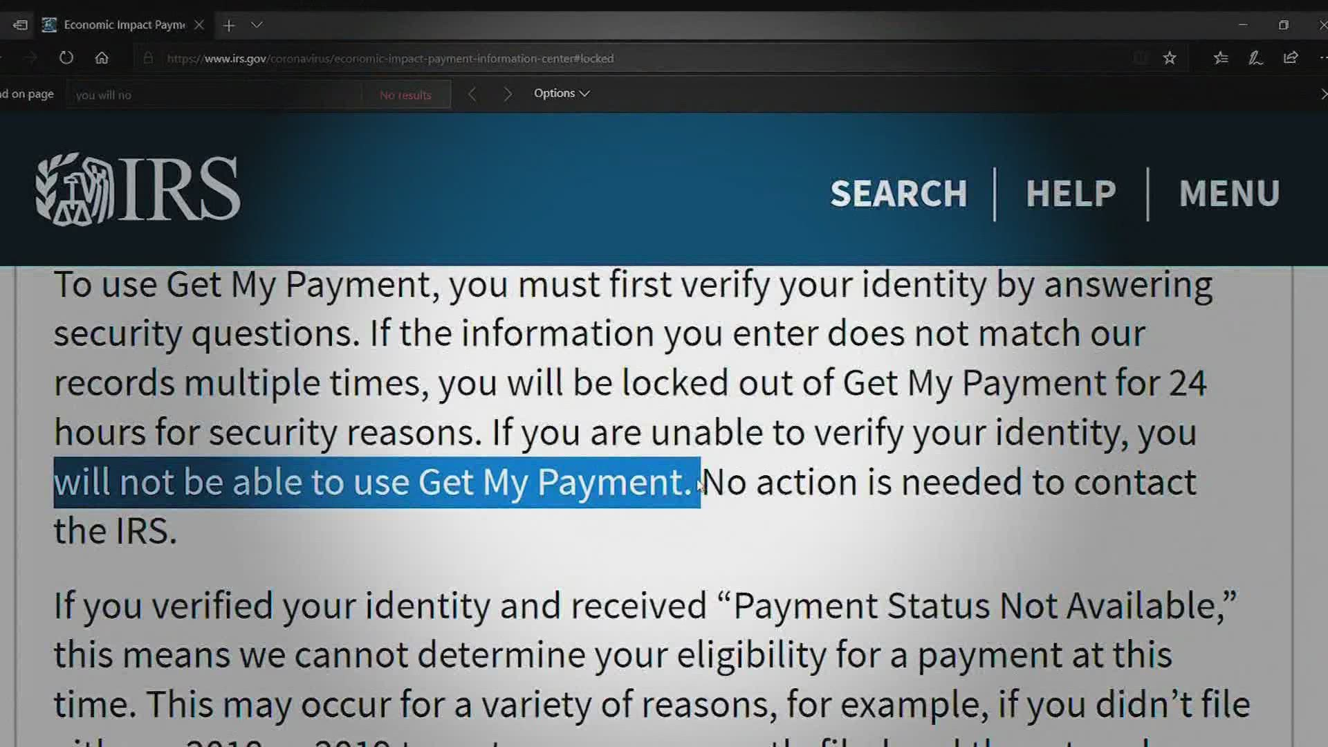 Having Trouble Using The Stimulus Payment Tracker Heres Why