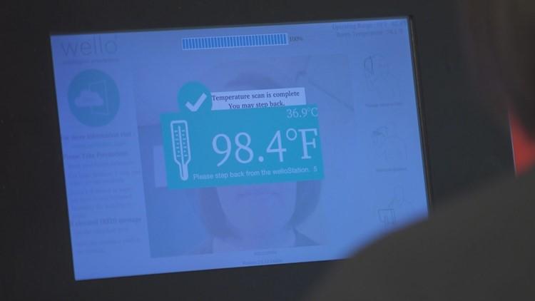 WelloStationX calculating a person's temperature