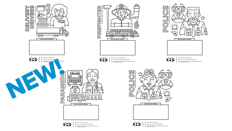 WFAA Heroes Coloring Pages - New