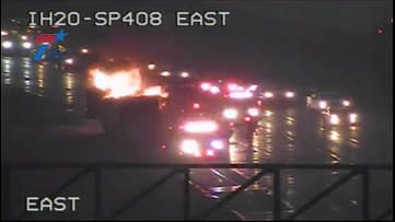 Truck carrying chocolate truffles catches fire, causes delays on I-20 at Spur 408