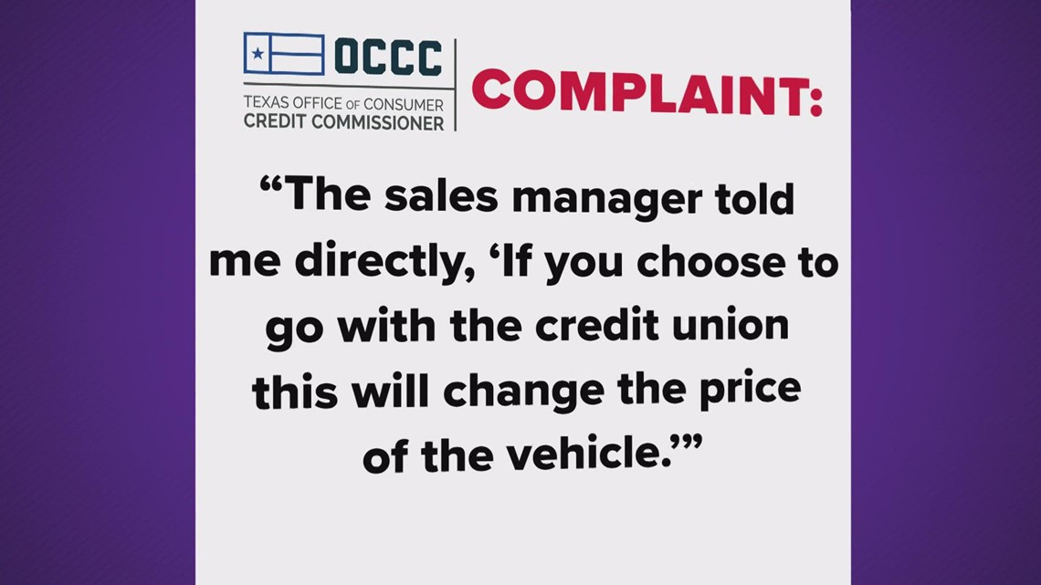 Exclusive: Texas regulators now getting complaints about what seems like forced financing at auto dealerships