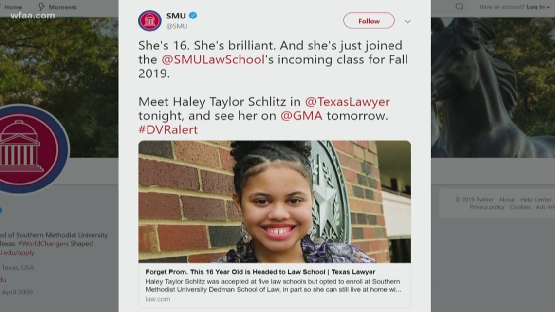 Fort Worth teen to attend SMU law school