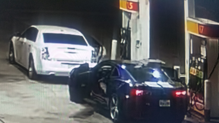 Gas theft on Stemmons Freeway