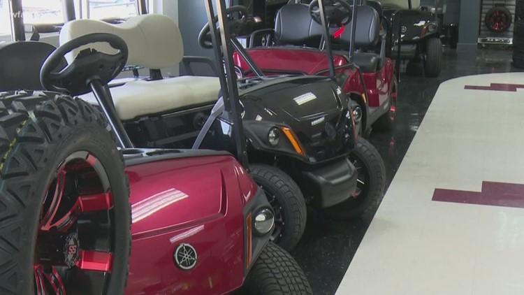 Golf Carts taking over North Texas neighborhoods | wfaa.com on golf buggy, golf girls, golf players, golf cartoons, golf hitting nets, golf trolley, golf accessories, golf words, golf games, golf tools, golf card, golf machine, golf handicap,
