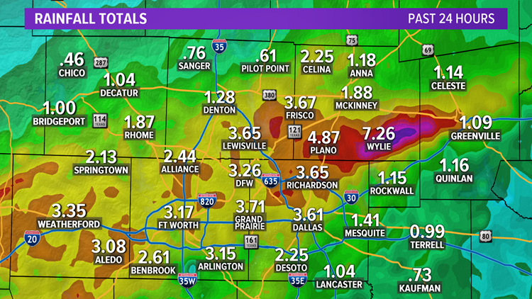 24-Hour Rainfall Totals