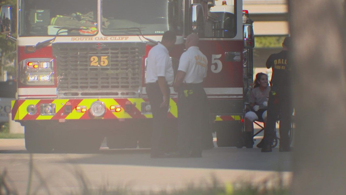 Dallas firefighter injured in apartment explosion is headed home from the hospital