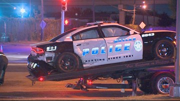 Dallas officer injured after suspected drunk driver crashes into squad car
