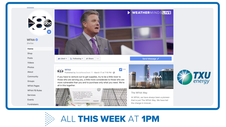 WFAA WeatherMinds goes live with science education on Facebook