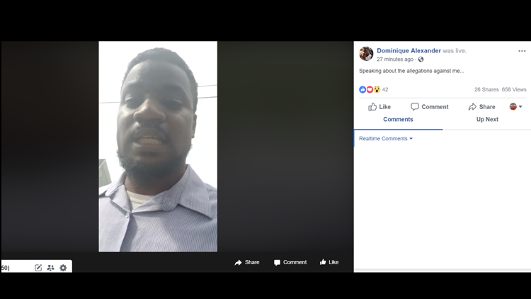 Dominique Alexander Facebook Live