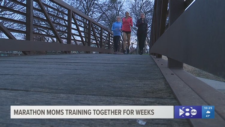 Marathon moms training for a big weekend in Dallas
