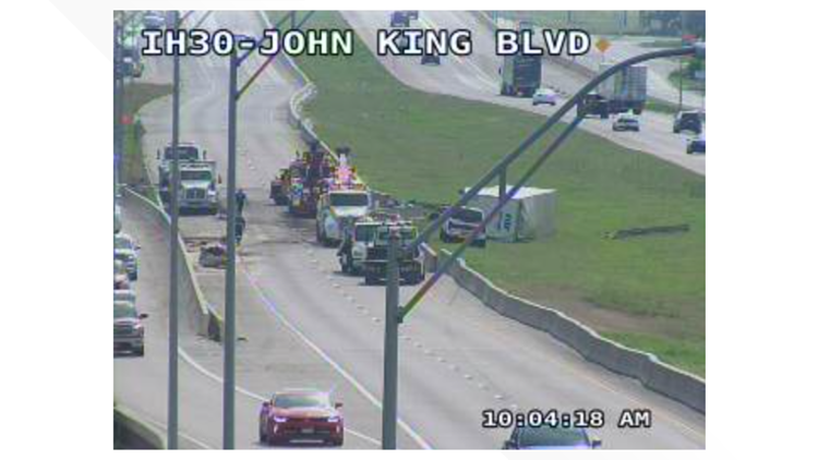 Westbound Interstate 30 shut down for hours after crash, Rockwall police say