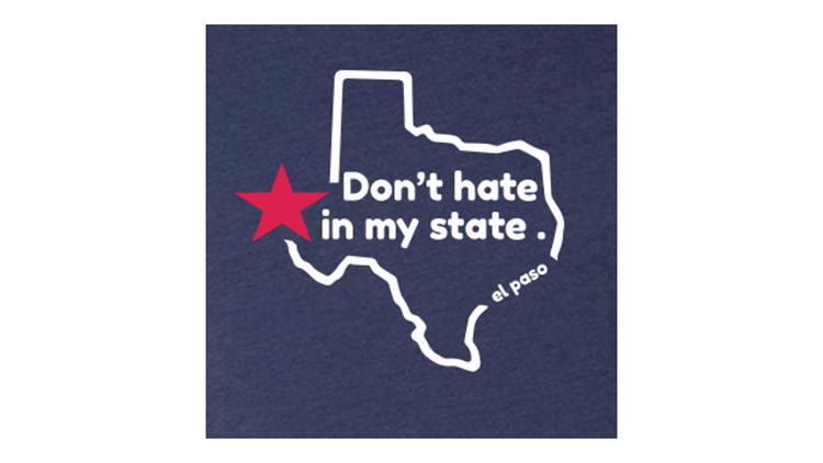 Don't Hate in My State t-shirt detail