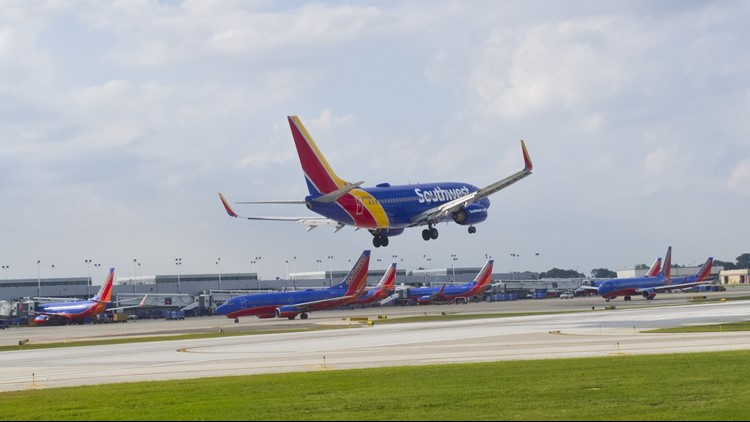 Southwest plane slides off runway after landing at Omaha airport; no one injured