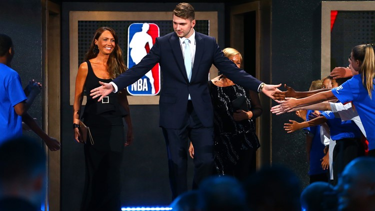 Luka Doncic is introduced before the 2018 NBA Draft at the Barclays Center on June 21, 2018 in the Brooklyn borough of New York City. (Photo: Mike Stobe/Getty Images)
