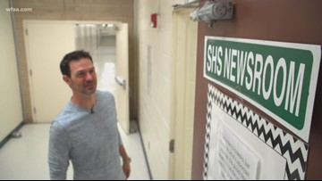 Returning to his roots: New Daybreak anchor Marc Istook visits his old high school, university