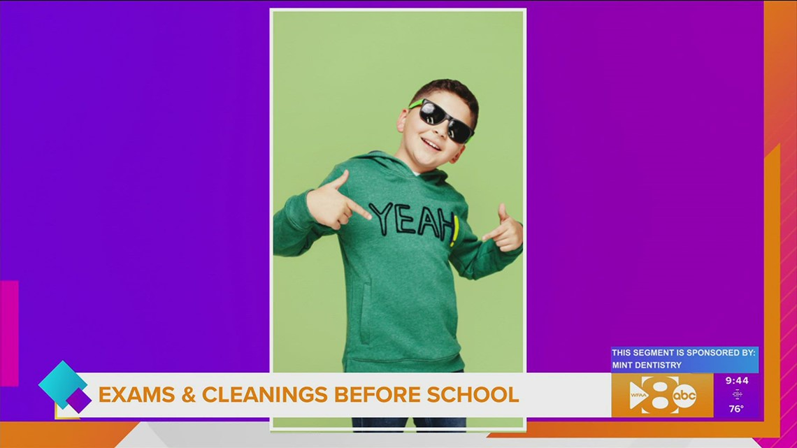 Take your kids for their exams and cleanings at Mint Dentistry before school starts