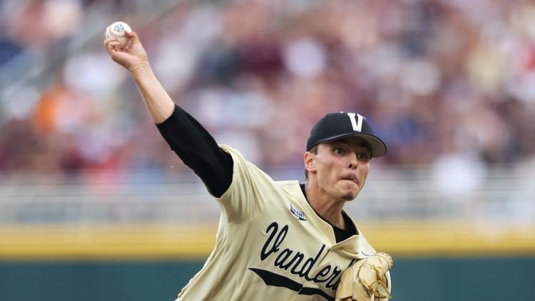 Texas Rangers pick Vanderbilt pitcher Jack Leiter in first round of MLB Draft