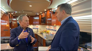 On the campaign bus with Mike Bloomberg in Dallas: Here's what he had to say