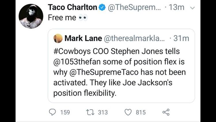 """Taco says """"Free me"""""""