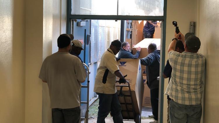Crews work to help DISD