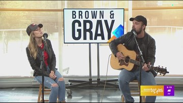Country duo Brown & Gray perform single