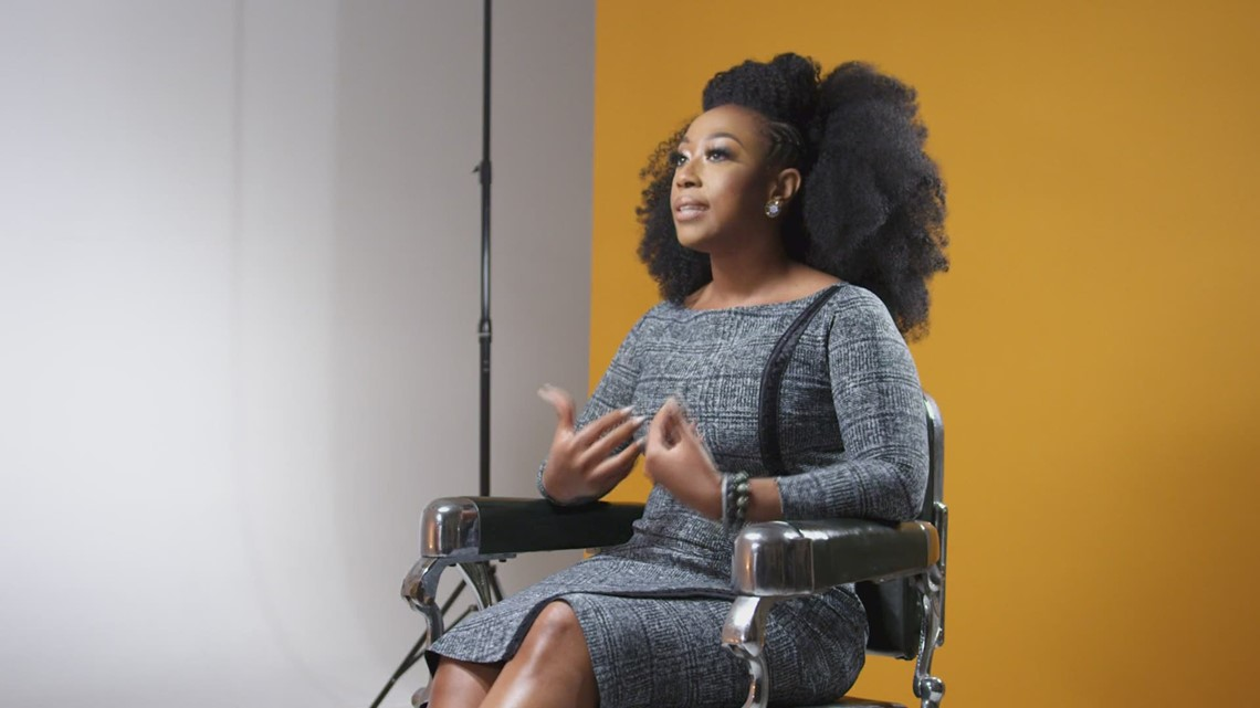 Rooted: Judge Amber Givens was told 'your hair is going to offend voters,' she explains in her hair story