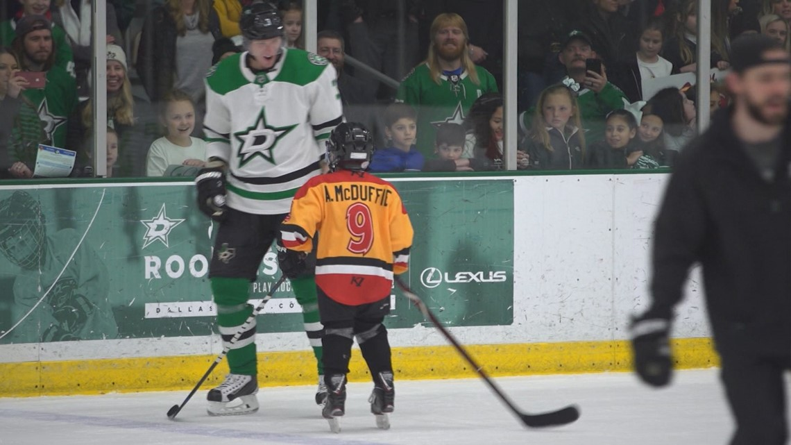 Make-A-Wish and Dallas Stars bring 'heaven' on the ice for a 10-year-old boy