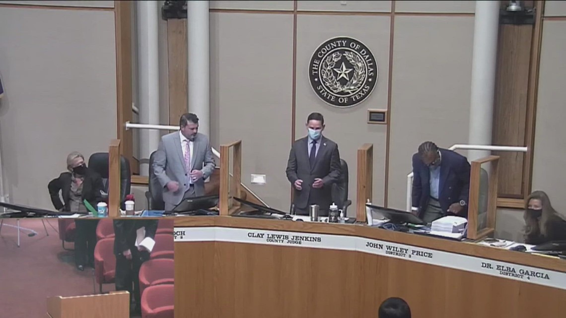 Dallas County commissioner J.J. Koch escorted out of meeting for refusing to wear a mask
