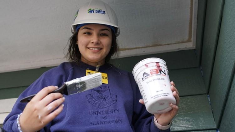 Fernanda Trevino-Suarez is the campus coordinator for Habitat For Humanity at Hockaday School.