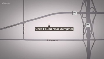 Newborn boy left near Arlington dumpster