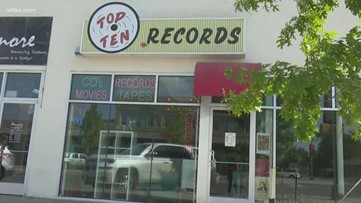 People from all over the world visit this Dallas record store: JFK aficionados get a look at a notorious phone