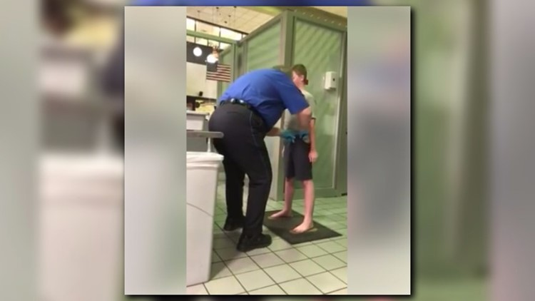 <p>Jennifer Williamson posted video on Facebook Sunday morning that showed her son being patted down by a TSA agent.</p>