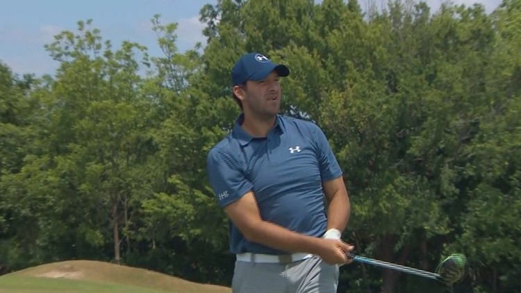 Tony Romo takes shot at pro golf breakthrough
