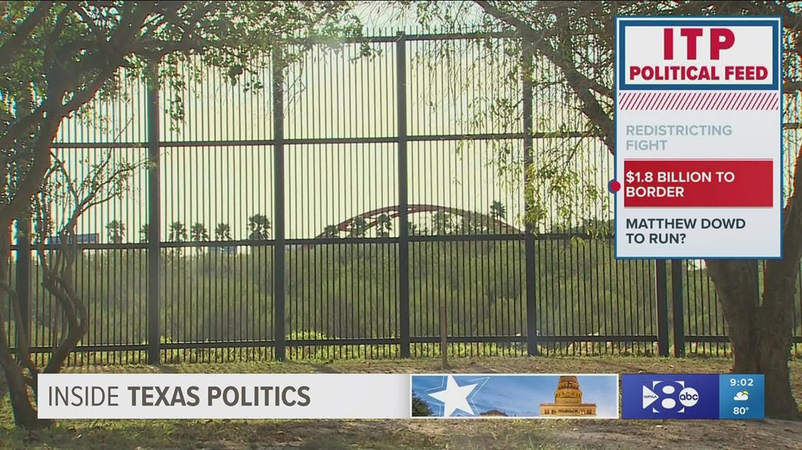 Inside Texas Politics: Redistricting fight, border funding among Texas headlines