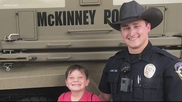 He helped calm a young boy during a traffic stop. Now this officer needs help of his own