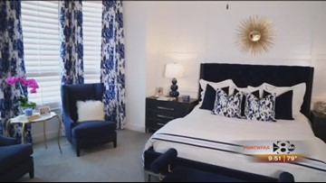 wfaa.com | Blue and Crisp White in the Master Bedroom