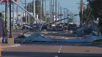 Aerial footage shows storm damage from Dallas to Sachse