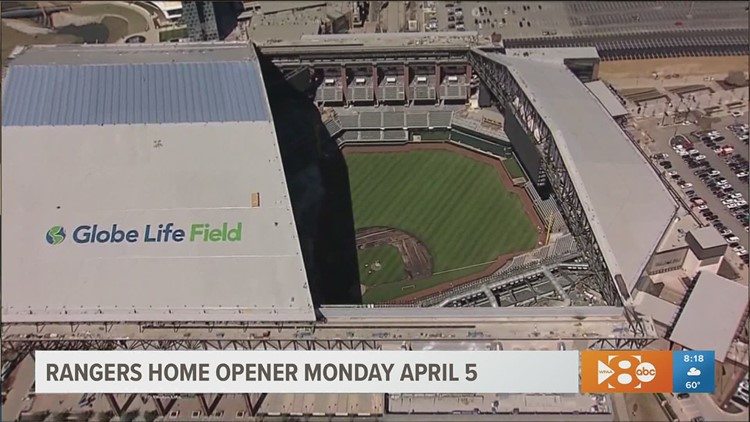 Texas Rangers home opener to be first time fans attend a game at new Globe Life Field