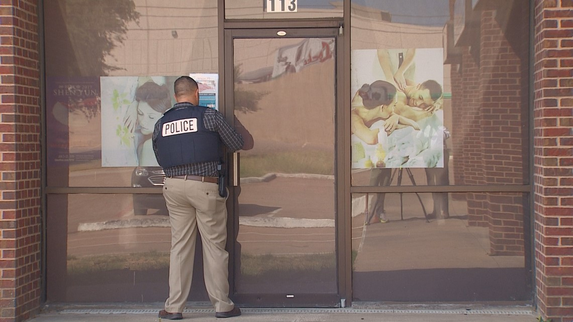 Two human trafficking victims found at DeSoto massage parlor, police say