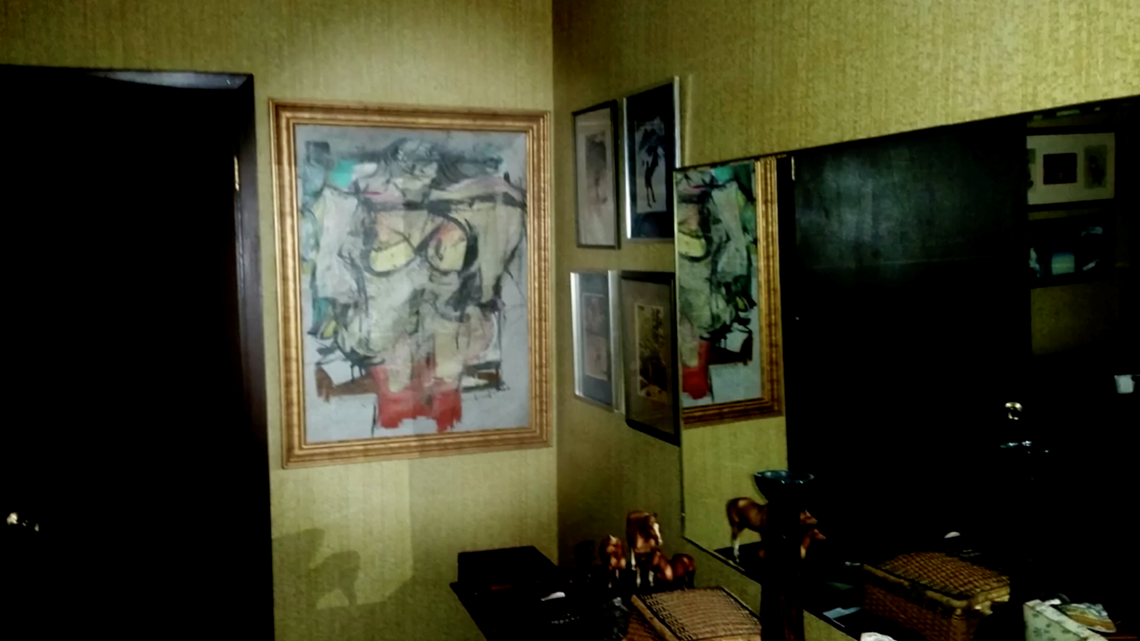 stolen painting worth  165m found behind bedroom door