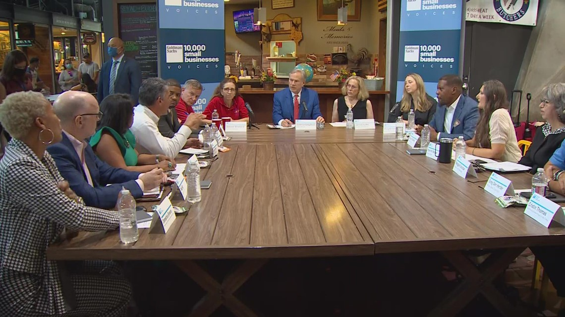 Gov. Abbott attends roundtable discussion with small business owners in Dallas