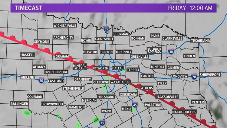 Friday Storm Timeline