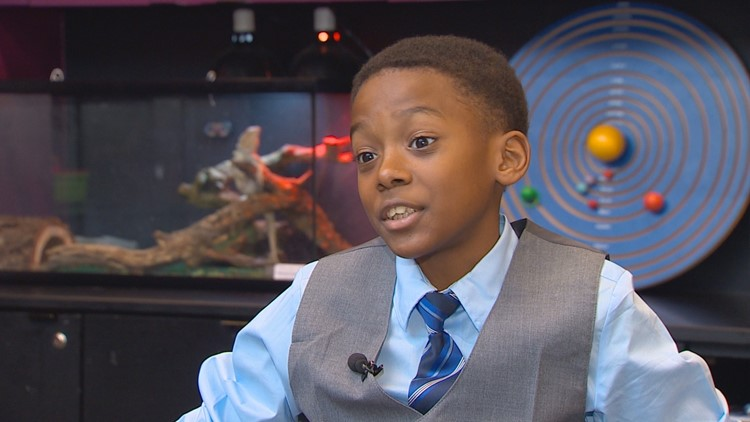 When Jonah found out he was going to get interviewed by WFAA for a Wednesday's Child report, he wore a suit.