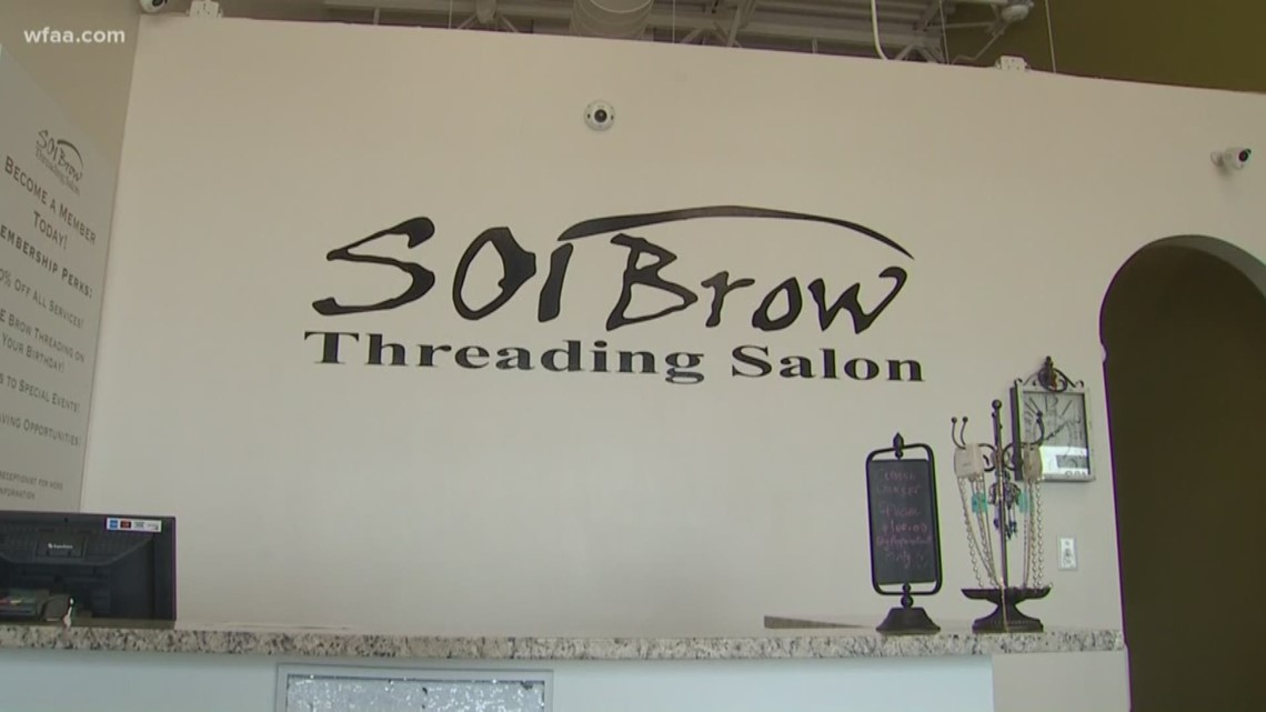 Surveillance video shows woman stealing from Soi Brow Threading Salon in  Midlothian
