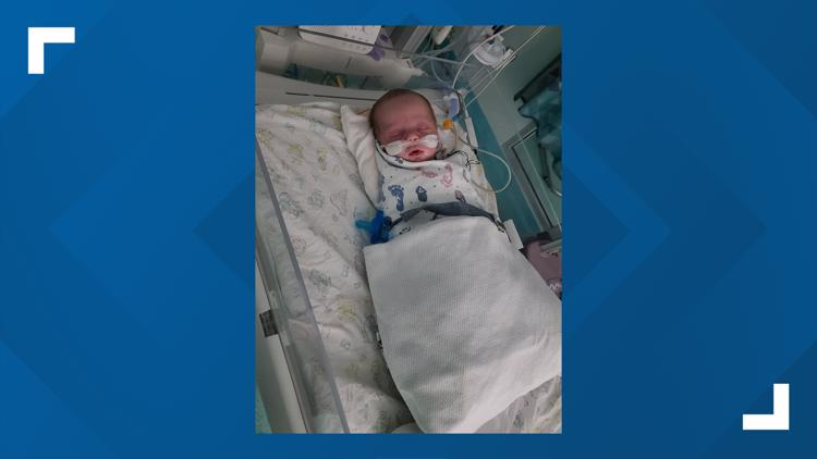 'I was watching my baby fade': Oklahoma mom flies newborn son with RSV to Cook Children's