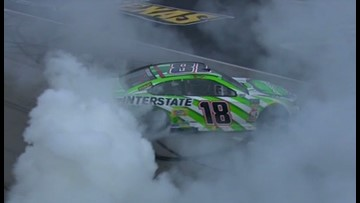 Busch outduels Harvick for win at TMS