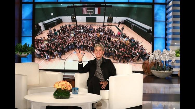 The Ellen Show surprises Rockport-Fulton High School with $1 million to help them rebuild after Hurricane Harvey.